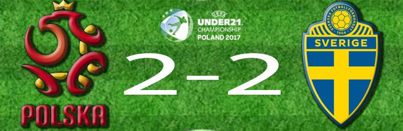 Polen Sverige i U21 EM 2017 resultat