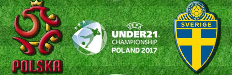 Polen Sverige i U21 EM 2017