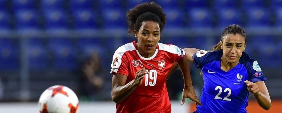 Frankrike och Schweiz damlandslag i fotboll