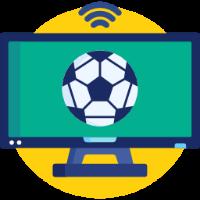 fotboll på tv ikon