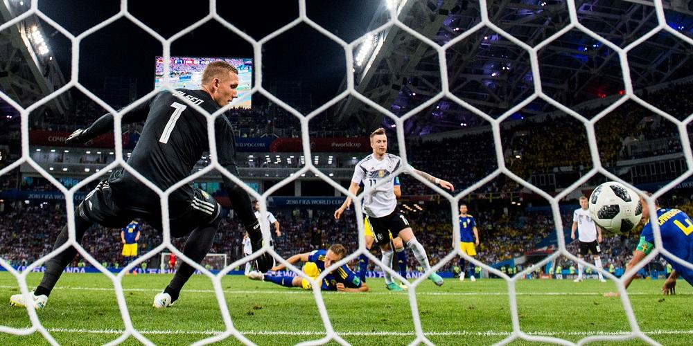 Sverige och Tyskland i fotbolls VM 2018