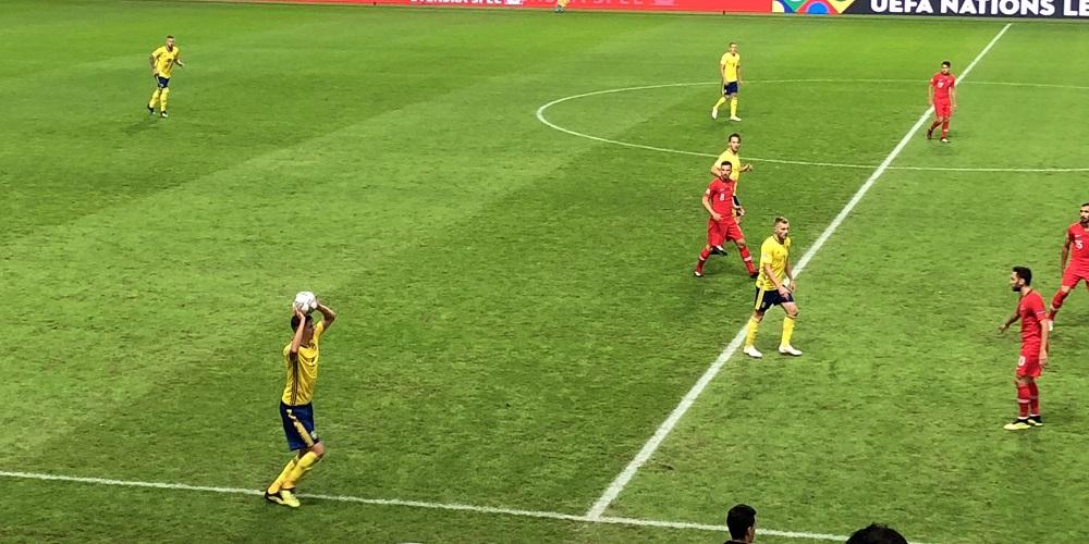 Sverige och Turkiets landslag i fotboll