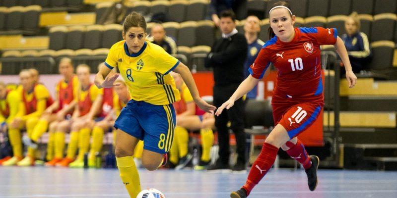 Sverige och Tjeckiens futsallandslag i fotboll