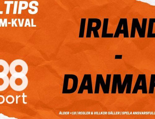 SPELTIPS EM-KVAL 18/11: Irland – Danmark