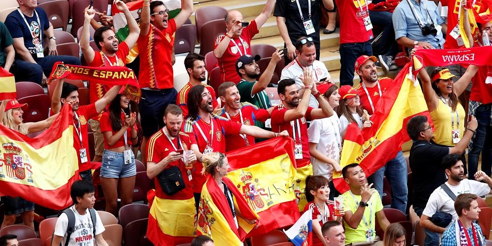 Spanska fotbollsfans