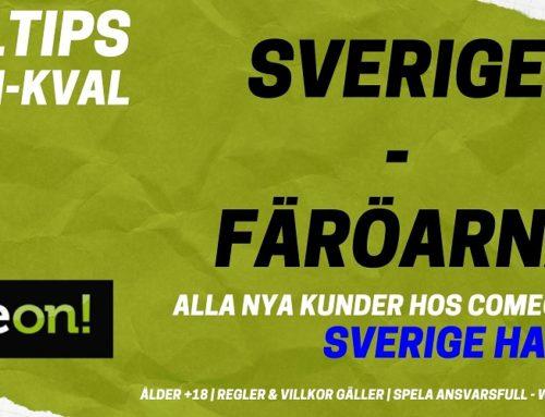 SPELTIPS EM-KVAL 18/11: Sverige – Färöarna