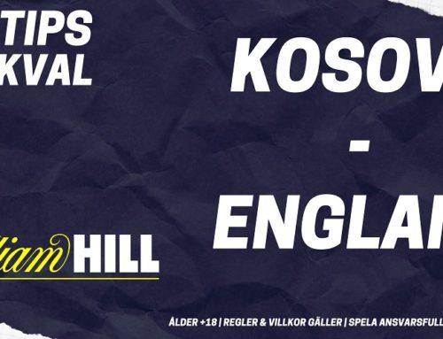 SPELTIPS EM-KVAL 17/11: Kosovo – England