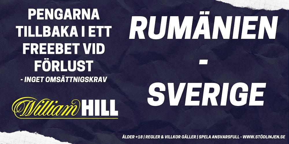 kampanj Williamhill Rumänien Sverige