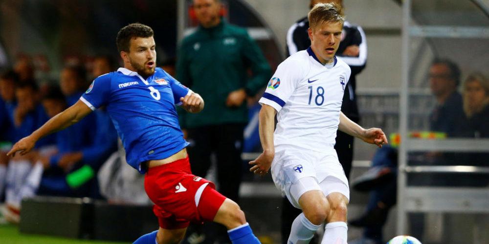Fotboll, EM-kval, Liechtenstein - Finland