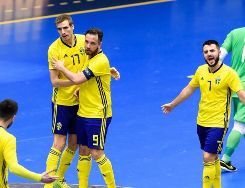 Futsallandslagets trupp till lägret på Bosön