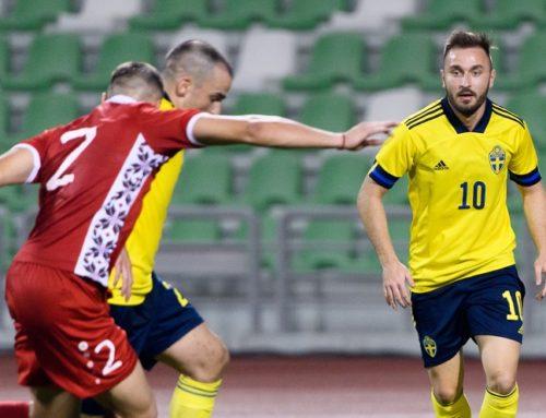 Sveriges startelva mot Kosovo