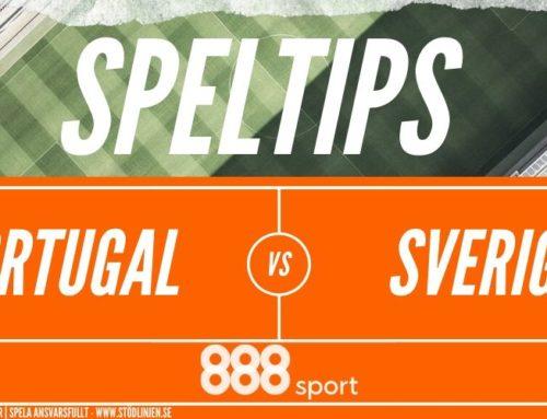Speltips 10/3 Portugal – Sverige