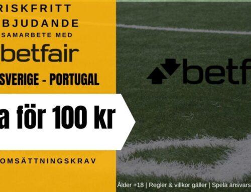 Riskfritt spel (8/9): Sverige vs Portugal