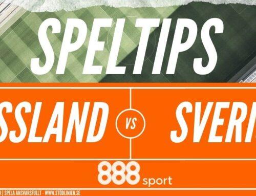 SPELTIPS 8/10: Träningsmatch | Ryssland – Sverige