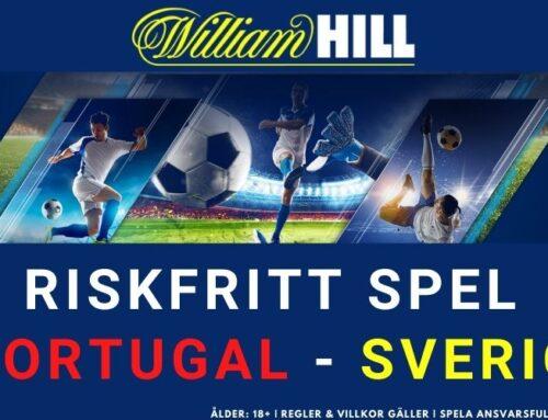 RISKFRITT SPEL: Portugal vs Sverige