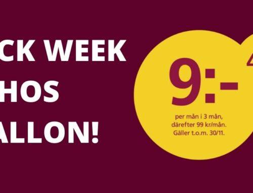 Black Week hos Hallon – Dunderpriser på deras abonnemang