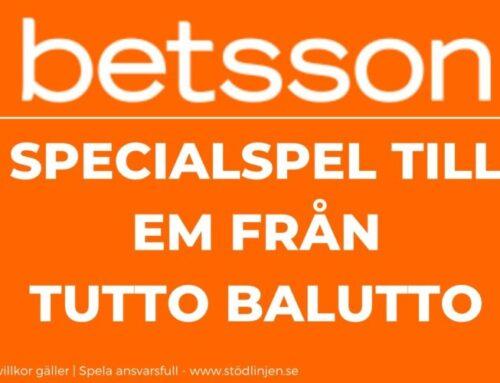 Betsson – Specialspel till EM från Tutto Balutto
