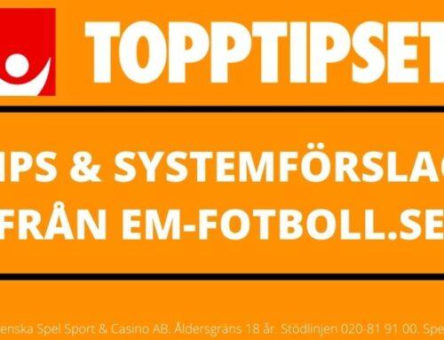 Topptipset torsdag 18/6 – Tips & Systemförslag